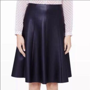 NWOT club Monaco leather a line black skirt